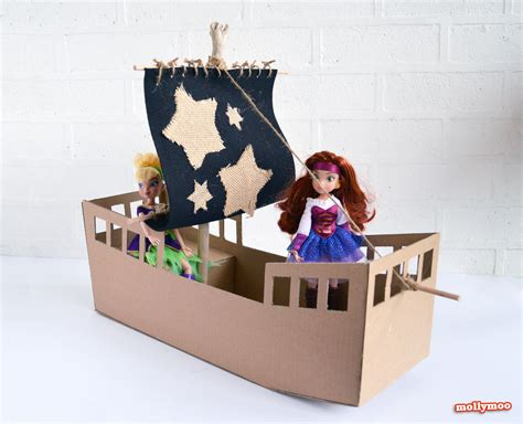 diy cardboard crafts mollymoocrafts diy cardboard pirate ship craft tutorial
