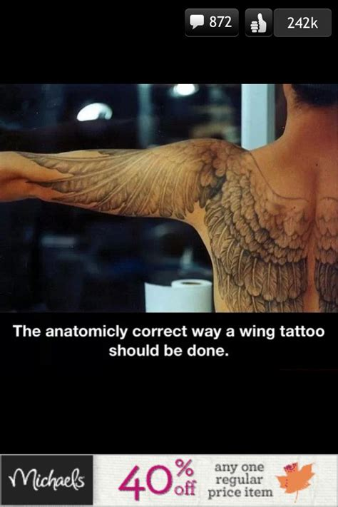 anatomically correct wing tattoo anatomically correct wing tattz