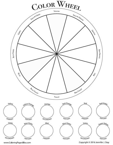 coloring pages bliss color chart color wheel coloring pages