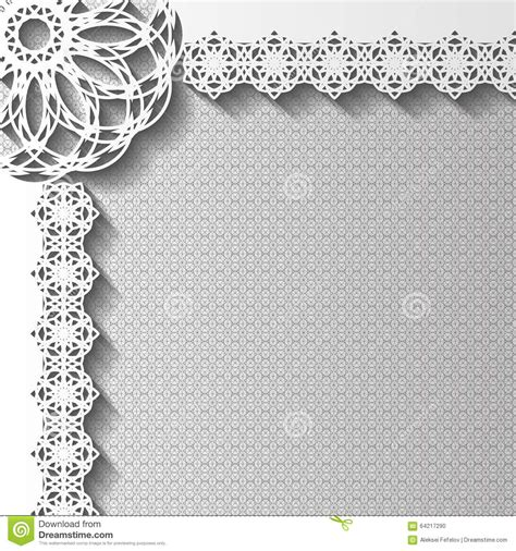 paper lace templates card paper lace greeting card stock vector image 64217290
