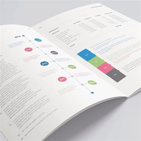templates agenda indesign business plan print template brochure corporate