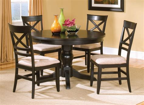 Wood Kitchen Table And Chairs Casual Dinette Design With Espresso Bistro Tables Sturdy Solid Wood Pedestal Table