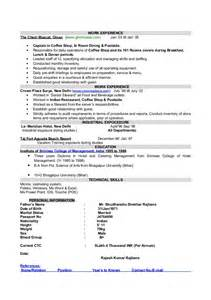 Cafe Attendant Sle Resume by Coffee Shop Resume Sle 28 Images Sle Chemistry Resume Australia 28 Images Chemical Sle