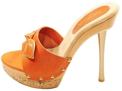 wood high heels womens soca elsa high heel wood cork platform slides