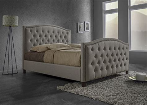 tufted upholstered headboard and footboard baxton studio jessie modern fabric button tufted headboard