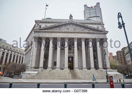 New York County Supreme Court Search State Supreme Court Building Us Courthouse Manhattan Foley Square Stock Photo