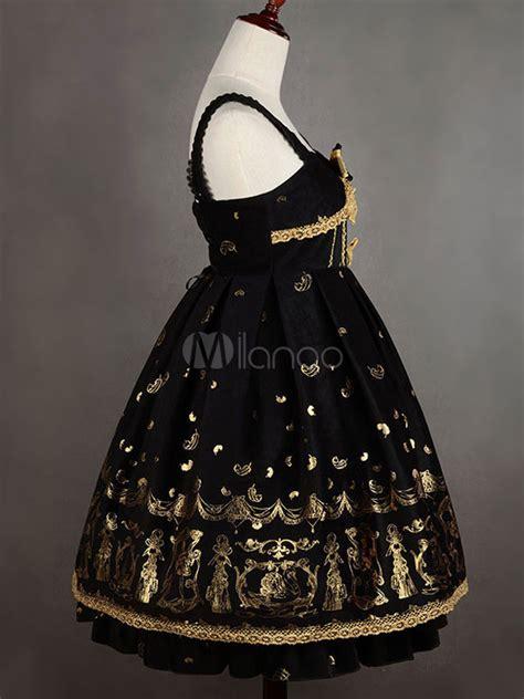 Jsk 3107 Size 27 30 Black jumper dress jsk black printed lace up velvet jumper skirt milanoo