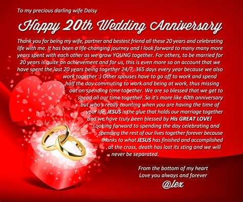 wedding anniversary quotes for my 20th year wedding anniversary quotes quotesgram