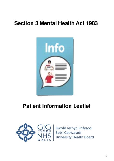 section 3 of the mental health act 1983 easy read mha section 3