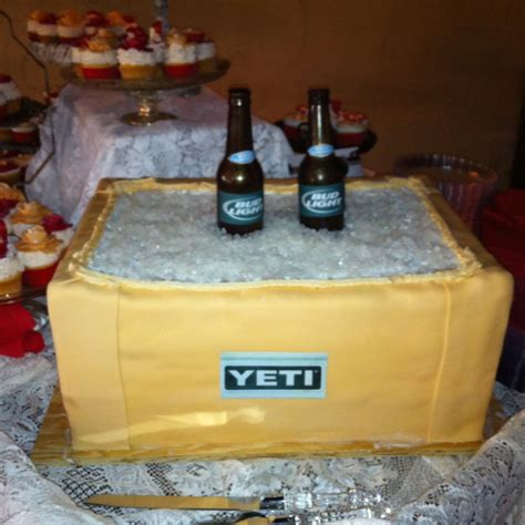 bud light beer cooler yeti cooler cake with edible bud light beer bottle mothers