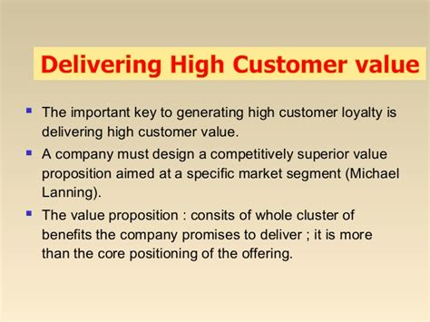 Is A Mba From Of Valued by Mba I Mm 1 U 1 2 Customer Value Satisfaction