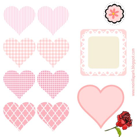 free digital heart scrapbooking embellishment diy tags