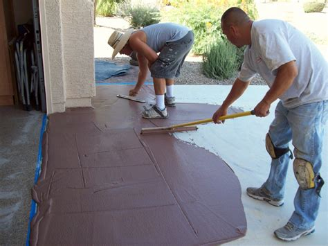 How To Refinish A Concrete Patio by Resurfacing Concrete Concrete Repairman