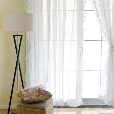ruffled sheer curtains voile ruffle curtain