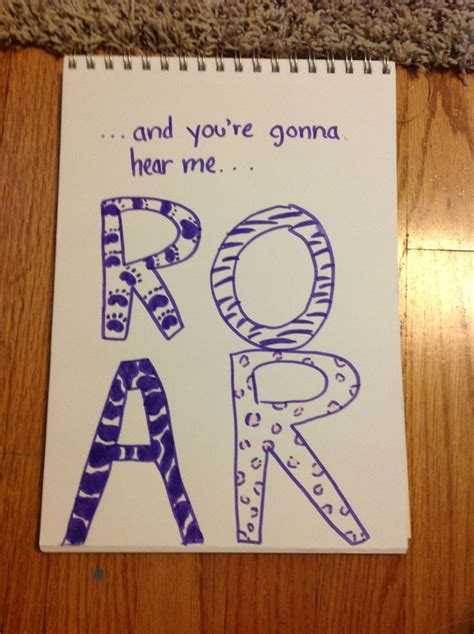 doodle de do lyrics katy perry roar song lyric doodle projects to try
