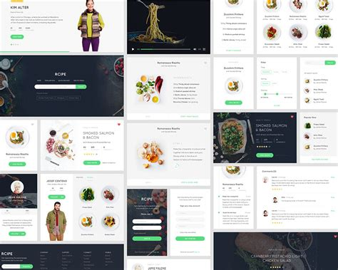 free ui templates for web applications recipe ui kit for sketch visual hierarchy