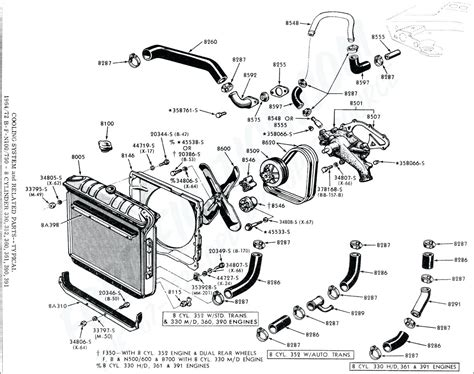 2002 ford taurus cooling system diagram diagram ford 5 4 heater hose diagram