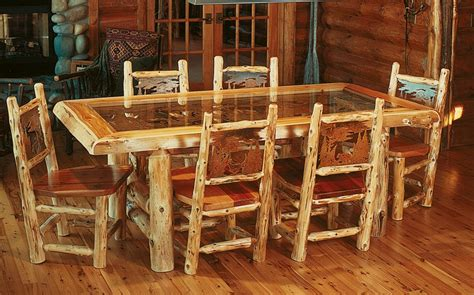Log Cabin Furniture For Sale by Enchanting Log Cabin Dining Room Furniture 98 With