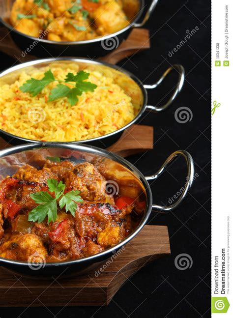 indian curry dinner indian curry meal stock photo image 10341330