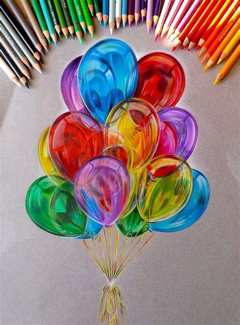 color pencil drawings balloon color pencil drawing by jocelyn schmidt