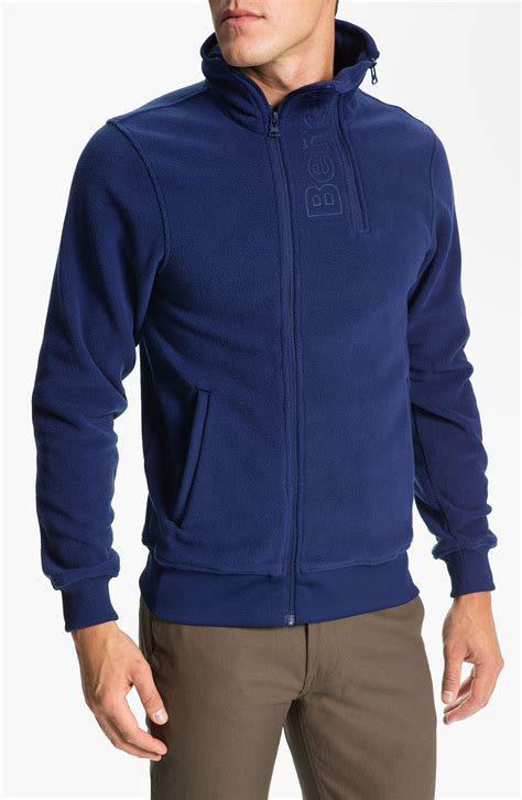 bench blue jacket bench handray fleece jacket in blue for men blue depths lyst