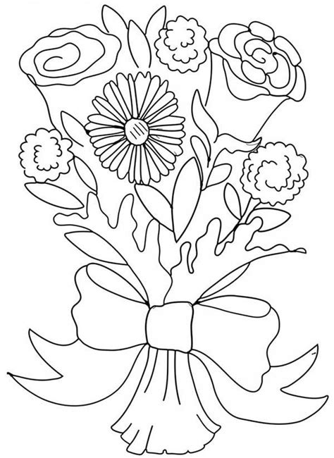 bouquet of roses coloring page wedding bouquet coloring pages az coloring pages