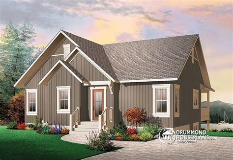 rustic house plans with walkout basement w3941 rustic cottage cathedral ceilings unfinished walkout baseme