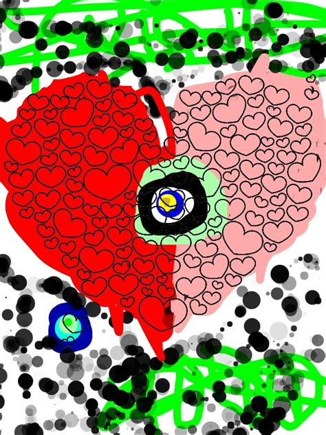 giant heart shaped cloud  valentines day coloring