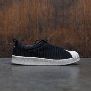 Adidas Superstar Bw35 Slip On Leather Black Black Ftwr Whit footwear bait