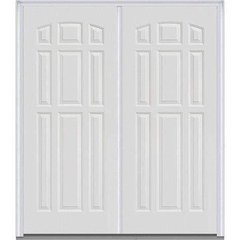 mmi door 74 in x 81 75 in classic clear glass 1 lite mmi door 74 in x 81 75 in 9 panel painted fiberglass