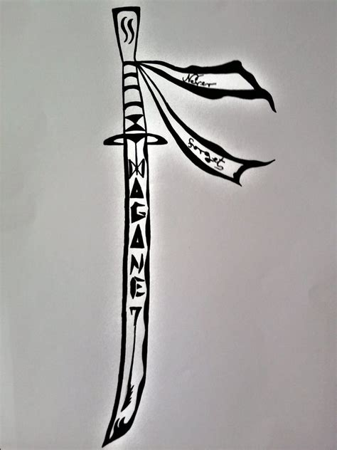 tribal sword tattoo tribal sword 2 by marinamccogan on deviantart