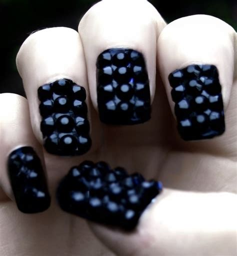 Blackberry Manicure by Studded Blackberry Nails Nail Inspirations