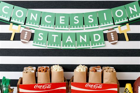 printable concessions banner game day party decor ideas evite