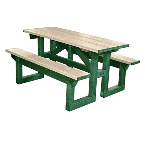 8 wheelchair access step through plastic picnic table