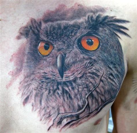 tattoo owl man 45 wonderful owl face tattoos