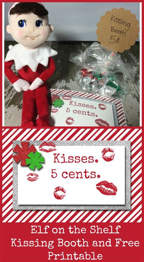 printable elf on the shelf kissing booth template ideas shelf ideas and shelves on pinterest
