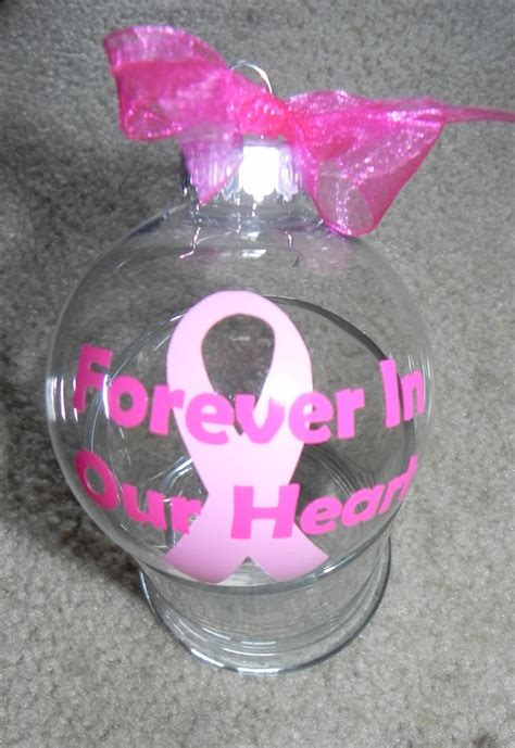 diy cancer ribbon ornaments breast cancer ornament i really wanna do this in memory of my mamaw diy in