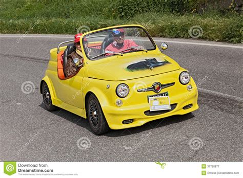 fiat 500 abarth roadster editorial photography image