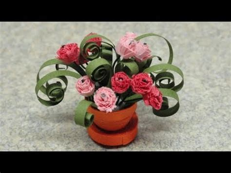 quilling miniatures tutorial quilled miniature plants carnations youtube
