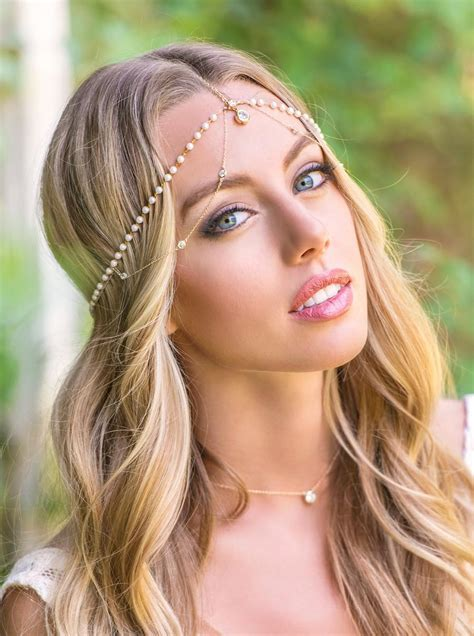 Vintage Bohemian Wedding Hair Accessories by Bohemian Wedding Hair Accessories Bridal Headpiece