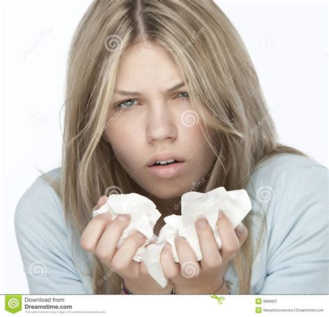 with allergies with allergies stock image image 9898931