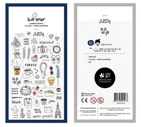 Suatelier Daily Something Diary Deco Stickers Sticker Hiasan Buku a daily something suatelier stickers translucent deco sticker 1 sheet from zakkalover on