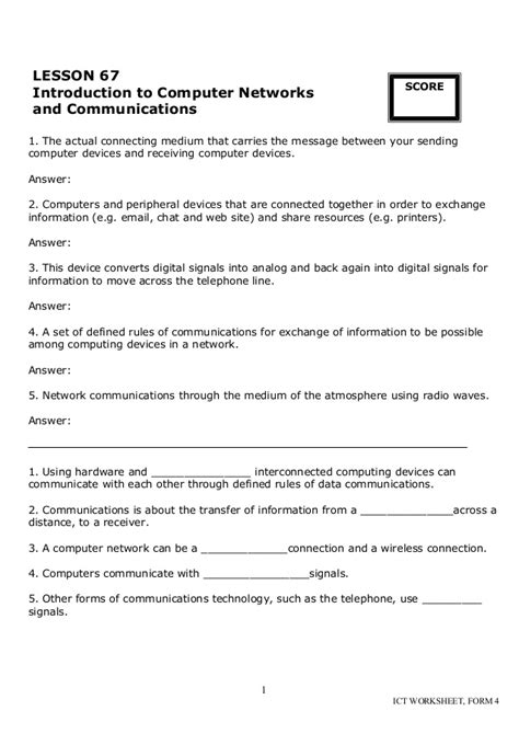 Introduction To Computers Worksheet by Cd Ict Worksheet La3 Form 4
