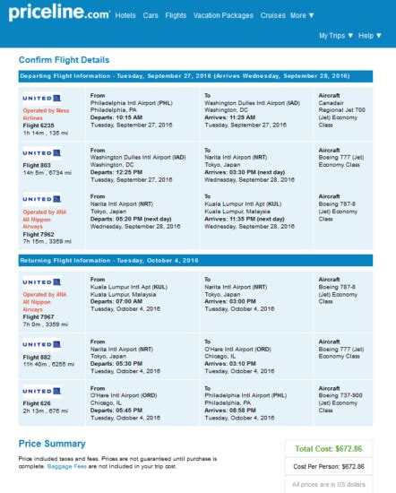 united airlines 24 hour cancellation the flight deal united 673 philadelphia kuala lumpur malaysia roundtrip including all
