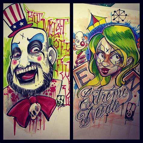 new school clown tattoo more new school designs tattoo tattooshop tattooarti