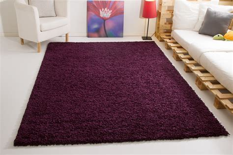 teppich läufer lila shaggy langflor hochflor teppich soft touch 6