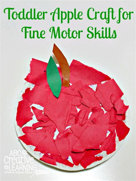 craft activities for toddlers toddler apple craft for motor skills