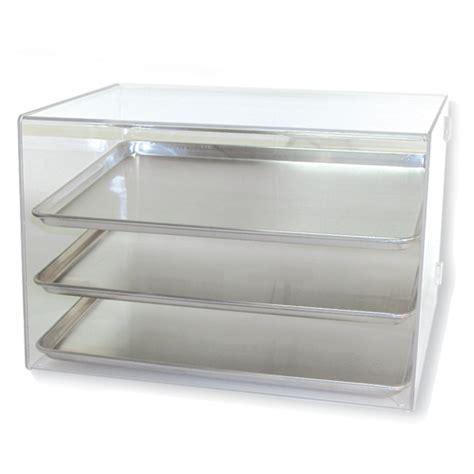 pan acrylic display holds 3 countertop acrylic