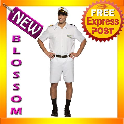 c509 the love boat captain stubing uniform halloween - Love Boat Captain Stubing Costume