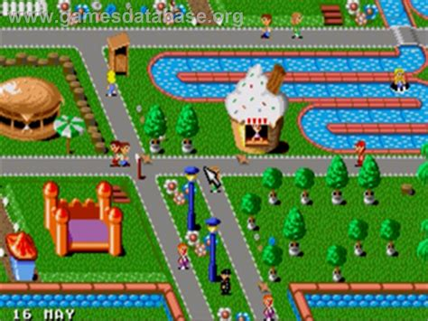 Theme Park Video Game | theme park sega genesis games database